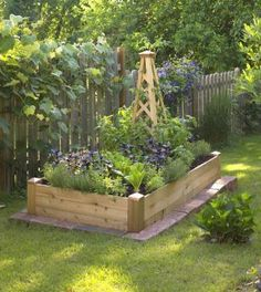 What to plant and when in a small garden. Also some tips on building a raised bed.