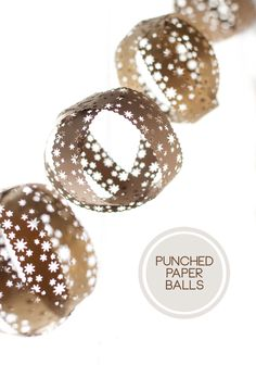 Punched Paper Balls