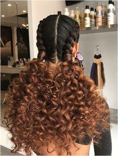 Curly Hair Ponytail, Braids For Short Hair, Long Curly Hair, Curly Hair With Braids, Curly Short, Curly Hair Braid Styles, Curly Hairstyles For Long Hair, Big Braids, Black Hairstyles