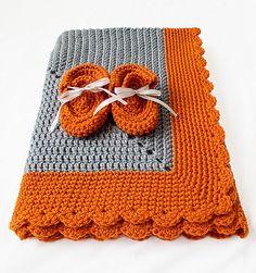 Crocheted Starburst Baby Blanket by Sara Rivka