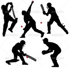 Buy Cricket Sport Silhouette by iamsania on GraphicRiver. Cricket Sport Silhouette on white background Cricket Cake, Cricket Logo, Cricket Sport, Indian Army Special Forces, Live Cricket Streaming, Baseball Live, Gyms Near Me, Sports Website, Theme Background
