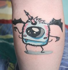 little monster tattoo :} This is amazing! I love this!