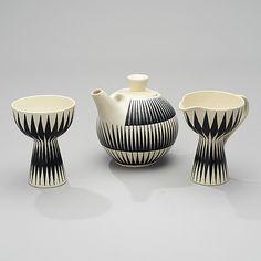 Nordic Design, Mid Century Style, Glazed Ceramic, Vintage Ceramic, Sugar Bowl, Scandinavian Design, Finland, Tea Pots, Pottery