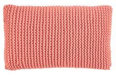 Knitting yarn cotton tube mix br. coral - Stoff & Stil - DIY cushion pillow knit crochet