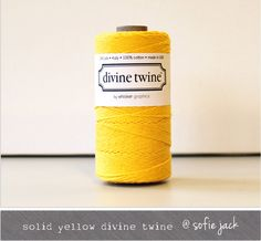 Yellow  Solid  Divine Twine  20 yards by sofiejack on Etsy, $2.00 #spongebob