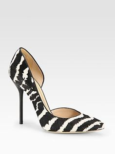 Gucci - Noah Animal-Print Pony Hair and Leather d'Orsay Pumps - Saks.com