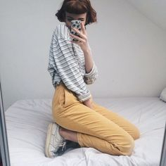 Simple vintage oversized stripy tshirt, cute pale blues and greys. Breton tee style - comfy thick cotton - perfect for tucking in. Will fit sizes 8-14 loosely!!✨