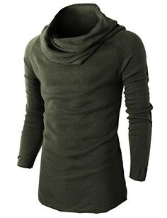 Mens Casual Turtleneck Slim Fit Cashmere Turtleneck Sweater OliveGreen US M/Asia L Long Sweaters, Black Sweaters, Pullover Sweaters, Cardigans, Mens Fashion Wear, Sweater Fashion, Mens Turtleneck, Men Sweater, Cashmere Turtleneck