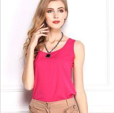 f693ddfeb3574 Plus Size Chiffon T Shirt Women Tops Summer Sleeveless Vest Shirt Blusa O- Neck Camis T-Shirt Casual Camisas Mujer Harajuku Bts