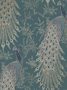 This elegant Peacock Wallpaper will bring a touch of glamour and style to any room of your home. The design features a collection of exotic peacocks in metallic gold, with touches of rich teal and blue tones and subtle glitter highlights, set on an emerald green matte background. This high quality paper is designed to catch and reflect the light and would look great when used to create a feature wall or to decorate a whole room.