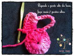 Luciana Ponzo Criações em Crochê: Flor Segredo Fechada - aprenda como fazer