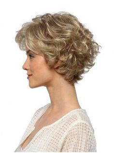 High Quality Curly Blonde Layered Popular Wigs,Lace Front Wigs (yes, I knew this is a wig. Short Curly Hairstyles For Women, Short Wavy Hair, Short Hair With Layers, Curly Hair Cuts, Curly Bob Hairstyles, Short Hair Cuts For Women, Curly Hair Styles, Curly Blonde, Curly Wigs
