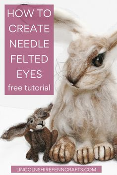 Up your needle felting game and make realistic needle felted eyes in just 8 easy steps. Needle Felted Cat, Needle Felting Kits, Needle Felting Tutorials, Needle Felted Animals, Felt Animals, Baby Animals, Felt Fox, Wool Felt, Felt Crafts Patterns