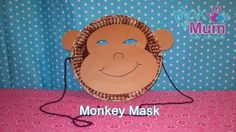 Monkey Crafts For Preschool | how to make a monkey mask this is a great monkey craft for kids it is ...