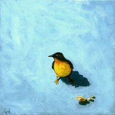 Crumbs-bird painting