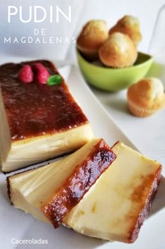 Churros, Delicious Desserts, Dessert Recipes, Flan, Kitchen Recipes, Food Porn, Food And Drink, Chocolate, Cooking
