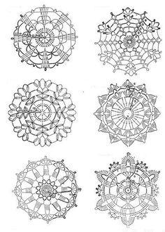 crochet magazine four Crochet Snowflake Pattern, Crochet Doily Patterns, Crochet Snowflakes, Crochet Diagram, Crochet Chart, Crochet Squares, Crochet Doilies, Crochet Flowers, Crochet Stitches