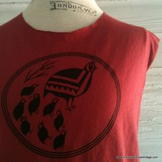 Refashioned Vintage Tee   Country Hen and by runaroundsuevintage, $16.00