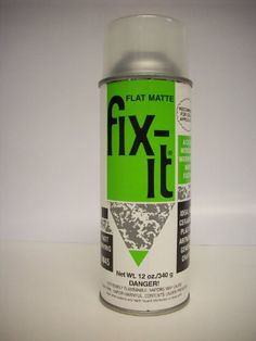 Fix-it Flat Matte Fixative for Ceramic By Plaid 12oz Workable Spray