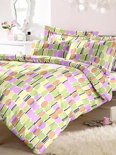 This neat and stylish patterned set in calming pastel shades comes with a double bedsheet and two pillow covers. It has the best quality fabric in 100% cotton that will last you through multiple washes. It will also last long against wear and tear and continue to feel soft and comforting. Our trusted brand offers the best in luxury, quality and comfort. Info Pastel Shades, Calming, Bed Sheets, Comforters, Pillow Covers, Blanket, Pillows, Luxury, Stylish