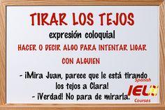 Expresiones coloquiales españolas: tirar los tejos