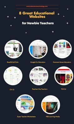 8 Great Educational  Websites for Newbie Teachers via Educators Technology via @acalderon52 http://sco.lt/...