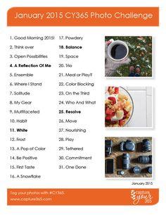 January 2015 CY365 Photo Challenge List