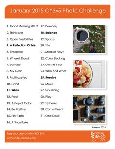 January 2015 CY365 Photo Challenge List