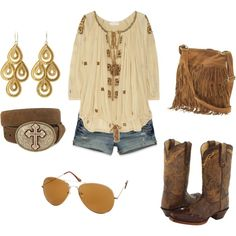 I love this! Not big on cowgirl boots but this is such a cute outfit!
