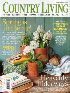 British edition of country living magazine British Country, Country Uk, Country Life, Country French, Prima Magazine, Cool Magazine, Magazine Design, Magazine Covers, Country Living Uk