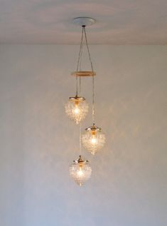 Falling Acorns Chandelier Upcycled Hanging Pendant by BootsNGus