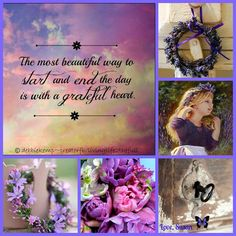 The most beautiful way to start & end the day is with a Grateful Heart ༺❁༻ Word Collage, Color Collage, Beautiful Collage, Beautiful Words, Collages, Mood Colors, Pretty Quotes, All Things Purple, Mood Boards