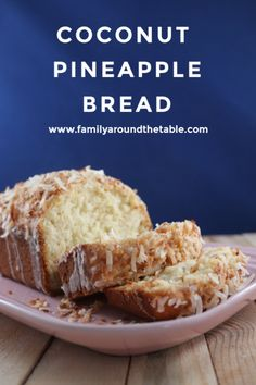 Taste the tropics with this flavorful coconut pineapple bread. Pineapple Bread, Pineapple Diet, Pineapple Recipes, Quick Bread Recipes, Cooking Recipes, Healthy Recipes, Healthy Food, Healthy Eating, Corn Recipes