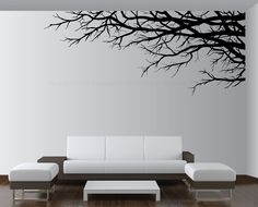 Vinyl Wall Art | Vinyl Wall Art Decor Tree Top Branches Sticker Choose Size Color ...