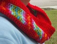 RED Crocheted Infinity Scarf  Ready To Ship by Hookedonyarnct, $31.00 Love this scarf !!
