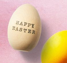 stamp words/names on wooden eggs as gifts or place cards
