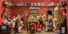 Hedgehog Doll House Kitchen
