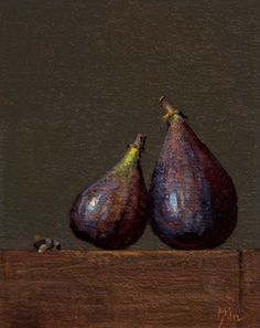 Abbey Ryan - Still life with Two Figs and Bumble Bee 5 x 4 inches Fig Fruit, Original Paintings, Oil Paintings, Still Life Fruit, Food Painting, Painting Still Life, Impressionist Art, Realism Art, Botanical Art