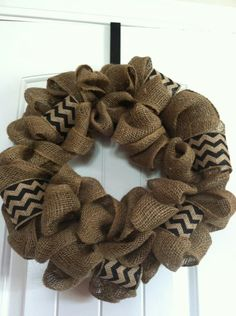 Pinterest wreath made from burlap | Figure out how to make this. Burlap wreath | Get my craft on