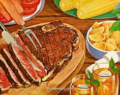 Dinner with Grilled Steak- csa images
