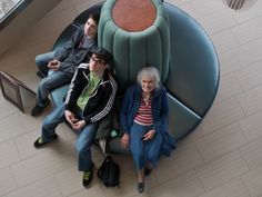 Joshua, Nathaniel and Mom in the foyer at the Springhill Suites in Alexandria, VA.  2/23/14
