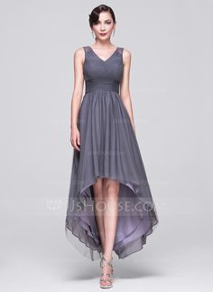 A-Line/Princess V-neck Asymmetrical Ruffle Beading Sequins Lace Up Regular Straps Sleeveless No Other Colors Winter Spring Summer Fall General Plus Tulle Evening Dress