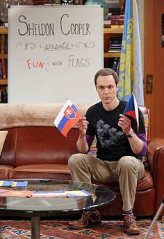 "First Look: Love Isn't In The Air On The Big Bang Theory Sheldon hosts a themed episode of ""Fun With Flags"""