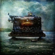 Mixed Media by Alexander Jansson   Try old typewriter with a photo coming out of it, Doug