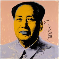 Andy Warhol - Mao - 1972♦️More Pins Like This At FOSTERGINGER @ Pinterest