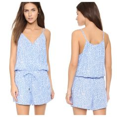 Splendid tile print romper •The perfect romper to add to your Spring wardrobe. Blue Mediterranean tile print throughout entire piece. Drawstring waist. Cross over drape neckline. Pair with your favorite wedges, a bold lip and nude cross body for an effortlessly chic look that is totally on trend. Splendid Pants Jumpsuits & Rompers