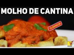 MOLHO DE TOMATE IGUAL AO DAS CANTINAS ITALIANAS   THE BEST   VIEWGANAS Xpress - YouTube Veggie Recipes, Cooking Recipes, Tandoori Chicken, The Best, Meat, Ethnic Recipes, Youtube, Animal, Food
