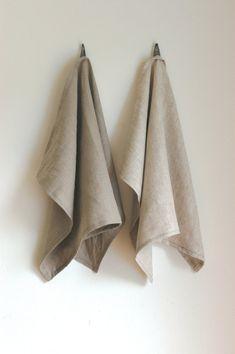 Set of 2 Linen Kitchen Tea Towels by bonnbonn on Etsy, $36.00