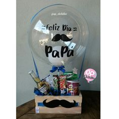Fathers Day Gift Basket, Happy Fathers Day, Fathers Day Gifts, Balloon Gift, Balloon Surprise, Birthday Box, Birthday Gifts, Homeade Gifts, Personalised Gifts Diy