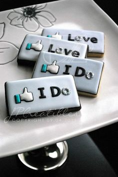 Wedding cookies- how cute!
